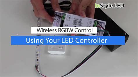 how to set up led strip lights how to set up use a wireless rgbw led strip light