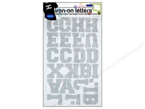iron on letters reflective iron on letters by dritz silver createforless 1339
