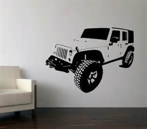 Custom Decals For Jeeps Wall Decal Custom Four Door Jeep Bombgrafx Home