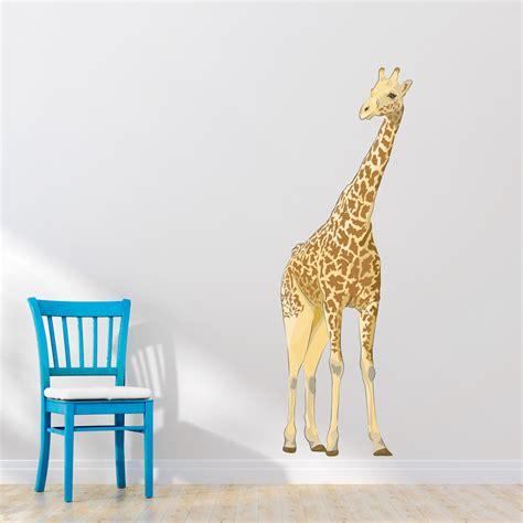 wall stickers giraffe giraffe printed wall decal