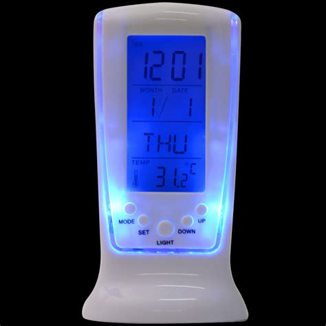 light alarm clock app modern unique phone digital lcd alarm clock calendar