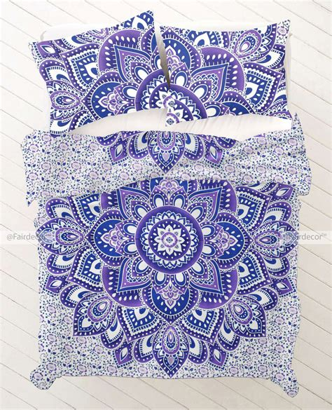 hippie bedding purple floral bedding sets blue purple hippie boho bedding set and pillow cases