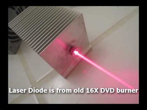 laser diode burn paper powerful burning laser built from computer parts