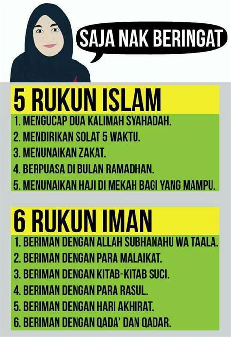 rukun iman 5 rukun islam 6 rukun iman islam islamic quotes allah and religion