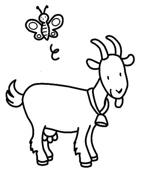 coloring pages of goat goats coloring pages