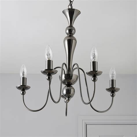 A Guide To Where Nickel Ceiling Lights Best Match Warisan Lighting Megan Black Nickel Effect 5 L Pendant Ceiling Light Departments Diy At B Q