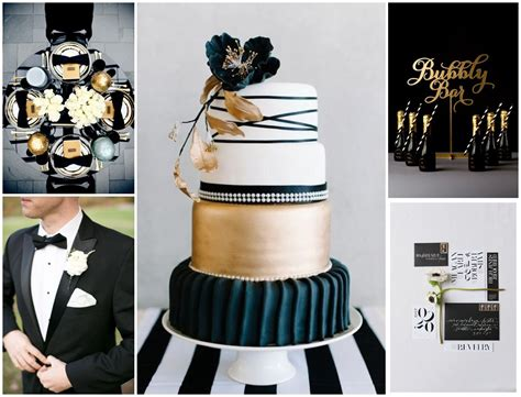 themes black tie black white and gold wedding theme wedding brand and theme