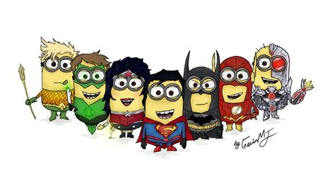 imagenes de los minions heroes justice league minions version by gavinthemjkid on