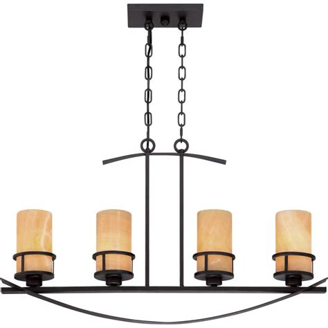 Pillar Candle Light Fixture Quoizel Ky433ib Imperial Bronze Kyle 4 Light 33 Quot Linear Chandelier With Onyx Pillar Candle