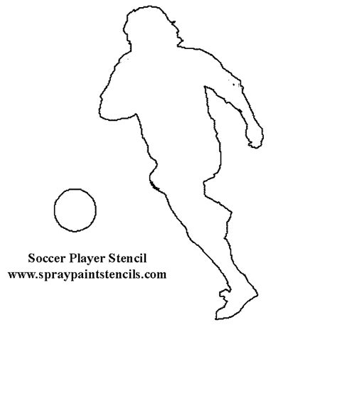 Sports Player Outline by Sports Stencils Page 2