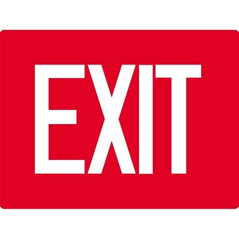 Exit A exit sign gempler s