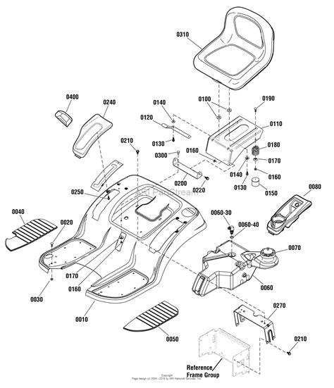 murray lawn mower deck parts diagram murray 2690842 emt175460 17 5hp 46 quot murray lawn tractor