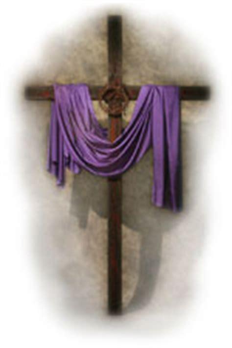 cross with purple drape sermonview draped cross
