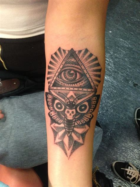 all seeing eye tattoo design all seeing eye moth my newest s
