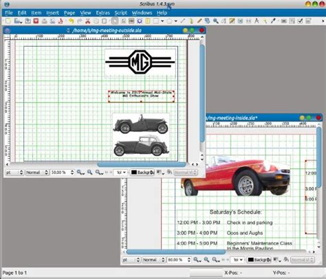 brochure layout scribus 3 open source desktop publishing tools for small businesses