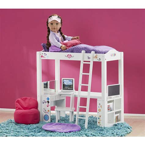 doll desk set doll furniture loft bed desk set made to fit