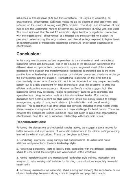 Nursing Leadership Essay by Nursing Essay On Leadership Exle