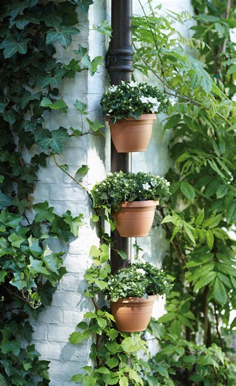 unique plant pots 3 pc lot unique gutter downspout garden flower pot drain