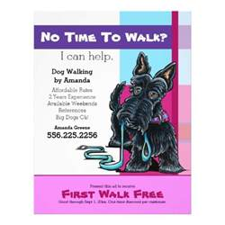 Walking Poster Template by Walker Scottie Plaid Discount Coupon Ad Flyer Design
