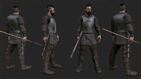 3d model viking warrior 3d model