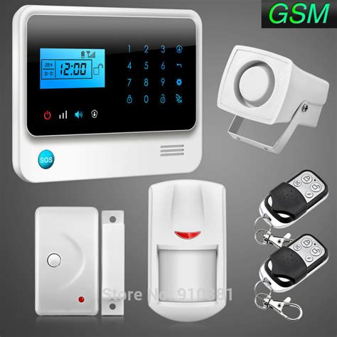 best 100 wireless 8 wired gsm alarm system lcd screen home