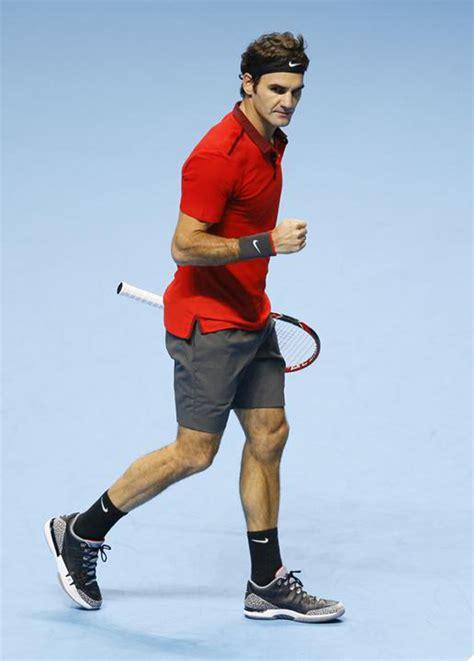 Baju Tenis Nike Roger Federer roger federer in nike zoom vapor tour aj3 quot black cement quot for atp world tour finals sneakernews