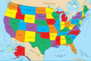 United States Map With States Really Famous Wallpapers Of The United States