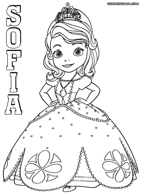 Princess Sofia Coloring Page Free Sofia The First | 20 princess sophia coloring pages sofia the first