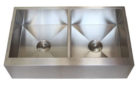 Discount Apron Front Kitchen Sinks 36 Inch Stainless Steel Flat Front Farmhouse Apron Kitchen Sink 5050 Bowl Discount