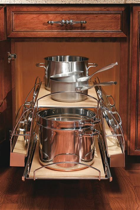 cabinet organizer for pots and pans base lid storage cabinet decora cabinetry