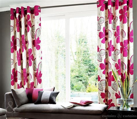 curtains pink pink floral curtains for living room homefurniture org