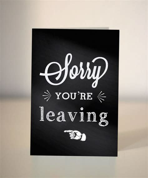 farewell card goodbye card sorry you re leaving