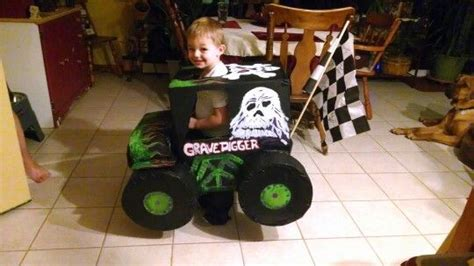 grave digger costume monster truck we made this grave digger monster truck costume with