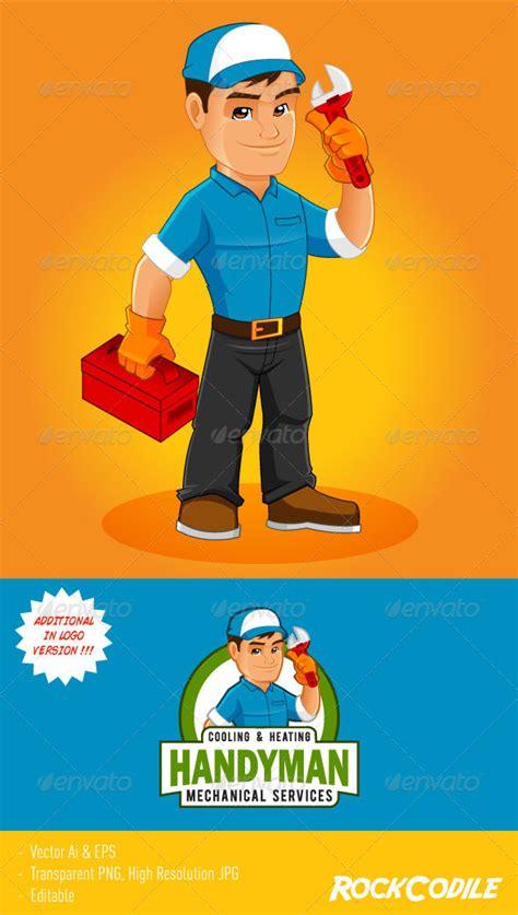 Mascot Plumbing by Handyman Mascot Graphicriver