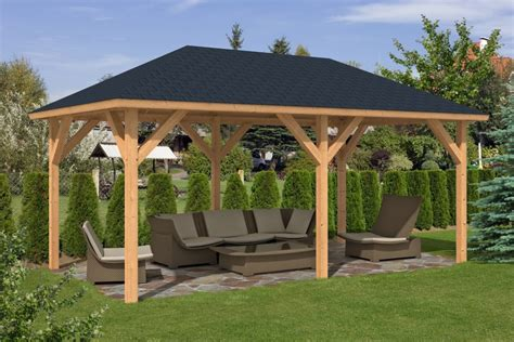 gazebo wooden corfu larch wooden gazebo 3 4x5 9m