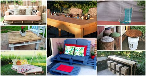 awesome collection of diy backyard furniture projects