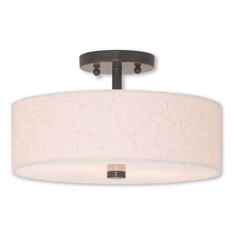 bronze semi flush mount light livex lighting meridian 2 light bronze semi