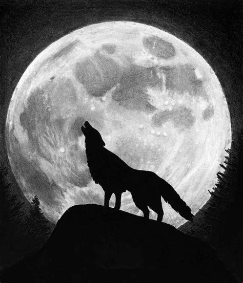 Wolf And Moon 187 wolf moon