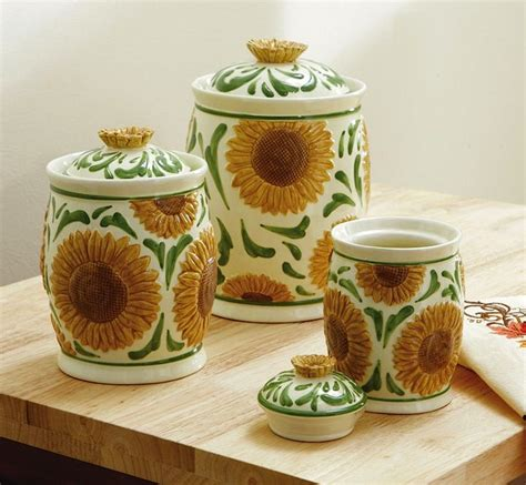 sunflower kitchen canisters pin by marylin on canister sets