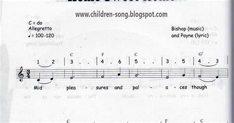 home sweet home song with notes and chords