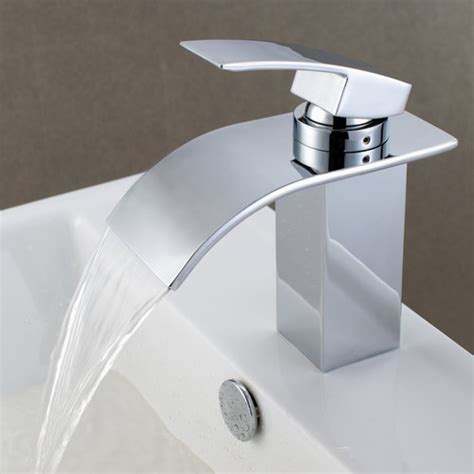 Bathroom Faucet Hose by Sumerain Single Handle Deck Mount Waterfall Bathroom Sink
