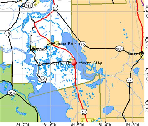 crescent florida map map of florida with cities