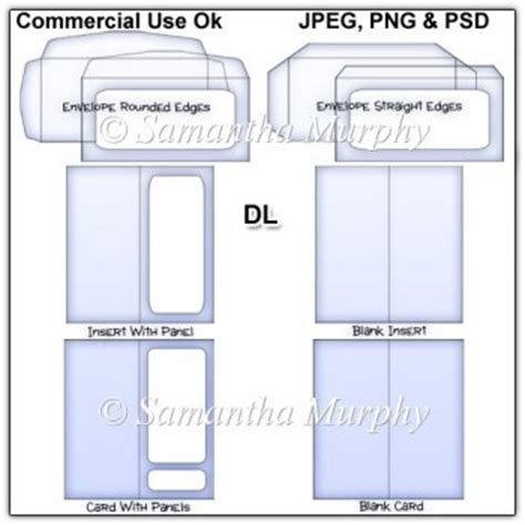 dl envelope card insert templates commercial use 163 3 50