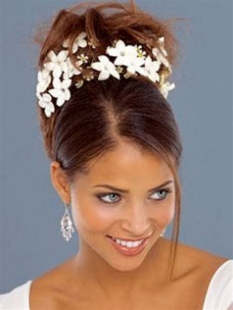 out hair styles for black with hair jewerly wedding hairstyles for black women updo with flowers
