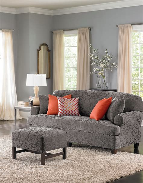 individual 3 piece t cushion sofa slipcover t cushion sofa slipcovers 3 piece sure fit ultimate