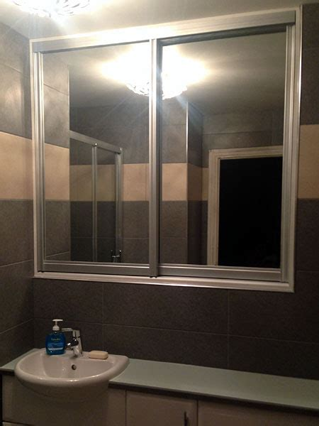sliding bathroom mirror sliding bathroom mirror small bathroom design idea