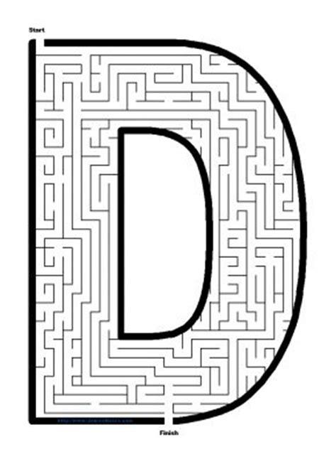 printable maze letter d alphabet mazes capital letter d maze james mazes