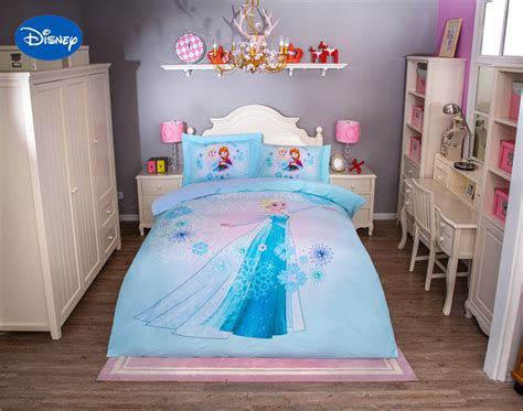 elsa bed disney frozen elsa character 3d printed bedding set for girls bedroom decor cotton bed