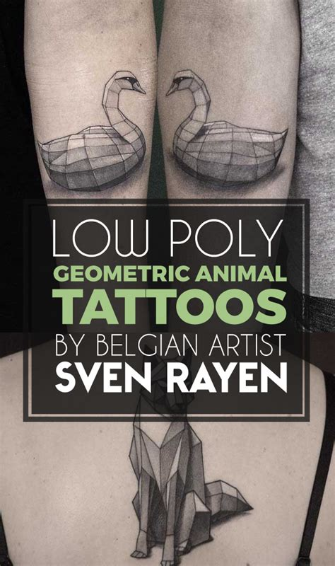 low poly tattoo low poly geometric animal tattoos by belgian artist sven