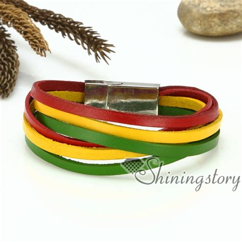 Genuine Leather Layered Bracelet multi layer wrap leather genuine leather bracelets